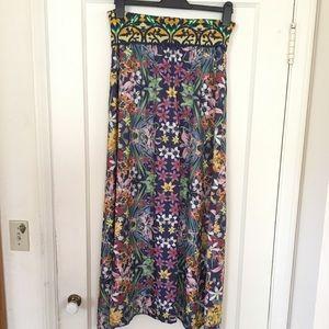 Cecilia Prado floral Anthropologie maxi skirt M